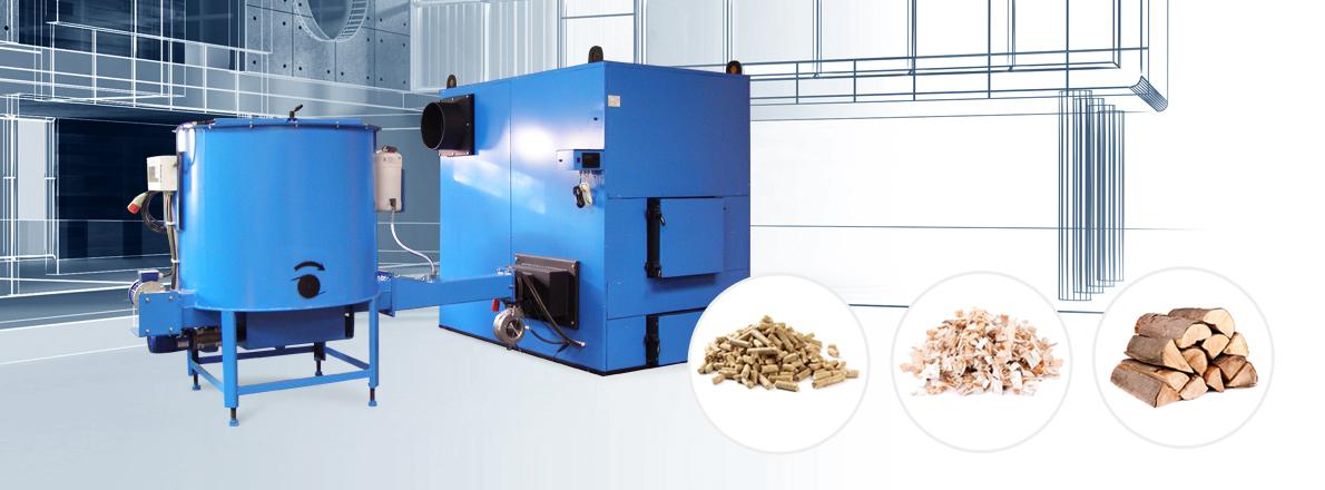 Kotłownie przemysłowe opalane biomasą